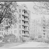 Phipps Garden Apartments, 5101 39th Ave., Long Island City. Old section, across the garden to northeast