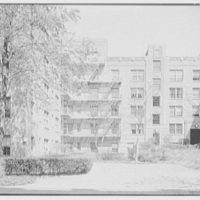 Phipps Garden Apartments, 5101 39th Ave., Long Island City. Old section, garden toward east