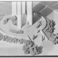 Reinhard & Hofmeister, 30 Rockefeller Plaza, New York City. Bell tower model, revised, base detail
