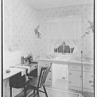 R.G. Slauer, residence at 10 Vreeland Ave., Nutley, New Jersey. Sewing room I