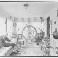 Ritchie Brooks, Jr., residence at 465 Rutland Ave., West Englewood, New Jersey. Nautical sun porch
