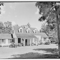Robert I. Powell, residence on Riverbank Rd., RFD no. 1, Stamford, Connecticut. Rear facade from left