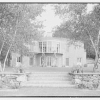 S.A. Mitchell, residence in Locust Valley, Long Island. Rear facade, axis (casement windows closed)