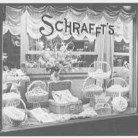 Schrafft's, 107th St. and Broadway, New York City. Candy show window