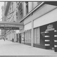 Schrafft's, 220 W. 57th St., New York City. Sidewalk, view to east