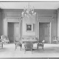 Silliman College, Yale University, New Haven, Connecticut. Commons room, dining hall entrance
