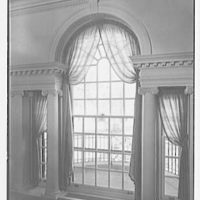 Silliman College, Yale University, New Haven, Connecticut. Master's house, palladian staircase window