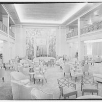 S.S. America, United States Lines. Lounge, from stage (revised)