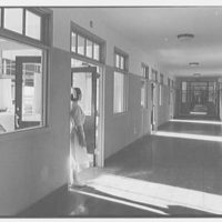 Triboro Hospital for Tuberculosis, Parsons Blvd., Jamaica, New York. Corridor