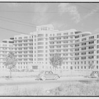 Triboro Hospital for Tuberculosis, Parsons Blvd., Jamaica, New York. General view of entrance facade