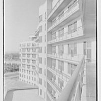 Triboro Hospital for Tuberculosis, Parsons Blvd., Jamaica, New York. Sharp view of building from sixth floor I