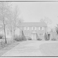 W. Stuart Thompson, residence in Hillcrest Park, Stamford, Connecticut. House from entrance drive