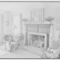 William H. Barnum, residence in Southern Pines, North Carolina. Living room fireplace