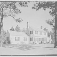 William H. Barnum, residence in Southern Pines, North Carolina. Rear facade from left