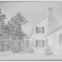 William H. Barnum, residence in Southern Pines, North Carolina. Terrace and house, sharp view
