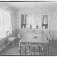 Arnold Southwell, residence at 414 W. Rivo Alta Dr., Miami Beach, Florida. Dining room