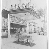 Beach Theatre, Lincoln Rd., Miami Beach, Florida. Entrance marquee I