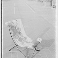 Bloomingdale Brothers, business in New York City. Terrace furniture, Fresnado leather chair I