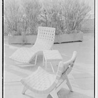 Bloomingdale Brothers, business in New York City. Terrace furniture, Morley Web group, vertical