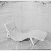 Bloomingdale Brothers, business in New York City. Terrace furniture, Morley Web chaise lounge, position II