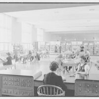 Brooklyn Public Library (Ingersoll Memorial), Prospect Park Plaza, Brooklyn. Children's Room, from librarians' desk