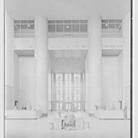 Brooklyn Public Library (Ingersoll Memorial), Prospect Park Plaza, Brooklyn. Circulation Room, axis view to foyer