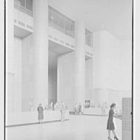 Brooklyn Public Library (Ingersoll Memorial), Prospect Park Plaza, Brooklyn. Circulation Room, side view to foyer
