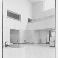 Brooklyn Public Library (Ingersoll Memorial), Prospect Park Plaza, New York. Vertical detail, Circulation Room