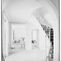 C. Henry Buhl, residence in El Vedado, Palm Beach, Florida. Gallery and staircase, to living room
