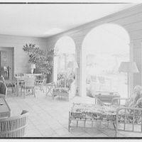 C. Henry Buhl, residence in El Vedado, Palm Beach, Florida. Loggia I