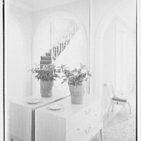C. Henry Buhl, residence in El Vedado, Palm Beach, Florida. Staircase, in gallery mirror