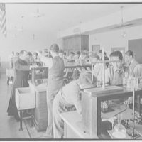 Cardinal Hayes Memorial High School, Grand Concourse, Bronx, New York. Chemical lab