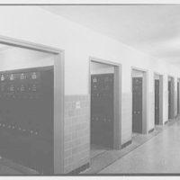 Cardinal Hayes Memorial High School, Grand Concourse, Bronx, New York. Second floor lockers
