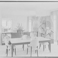 Caryll Tucker, residence in Hobe Sound, Florida. Dining room, from living room