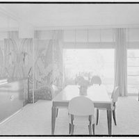 Caryll Tucker, residence in Hobe Sound, Florida. Dining room, to window