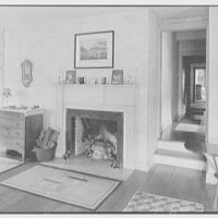 C.G. Michalis, residence in Garrison, New York. Master bedroom, to fireplace