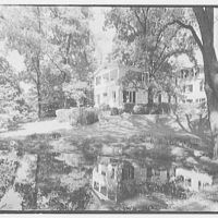 C.G. Michalis, residence in Garrison, New York. Pool, to house