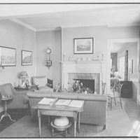 C.G. Michalis, residence in Garrison, New York. Sitting room, to fireplace