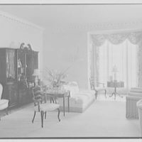 Charles S. Davis, residence at 8 Lake Trail South, Palm Beach, Florida. Living room, to secretary