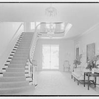 Charles S. Davis, residence at 8 Lake Trail South, Palm Beach, Florida. Stair hall, to east