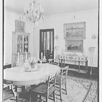Chester Dale, residence at 20 E. 79th St., New York City. Dining room, to commode and living room