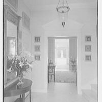 Clarence Mack, residence on Jungle Rd., Palm Beach, Florida. Through entrance hall to garden