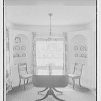 D.S. Schaab, residence in Pearl River, New York. Dining room