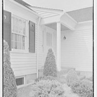 D.S. Schaab, residence in Pearl River, New York. Entrance detail