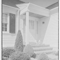 D.S. Schaab, residence in Pearl River, New York. Entrance facade, with baby