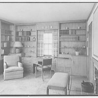 Duane R. Stoneleigh, residence at Yale Farms, Port Chester, New York. Modern study, to desk