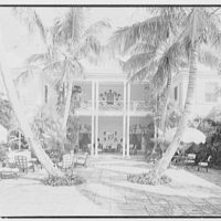 Edwin V. Quinn, residence on Ocean Blvd., Palm Beach, Florida. Patio, from west loggia