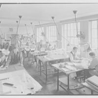 Eggers & Higgins, 542 5th Ave., New York City. Penthouse drafting room