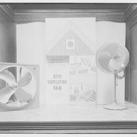 Electric Institute of Washington, Potomac Electric Power Co. building. Roasters and fans, windows and store III