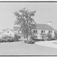 F.J. Holleran, residence in Deer Park, Greenwich, Connecticut. Entrance facade I